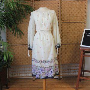 Vintage 70s Prairie Dress Sz M